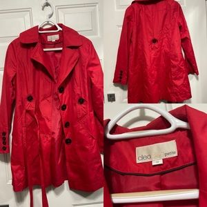 Red Trench Coat With Belt! ❣️